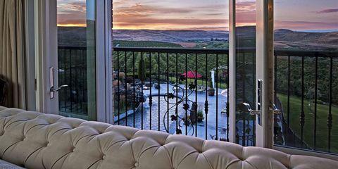 Interior design, Property, Glass, Real estate, Iron, Fixture, Shade, Balcony, Apartment, Metal,
