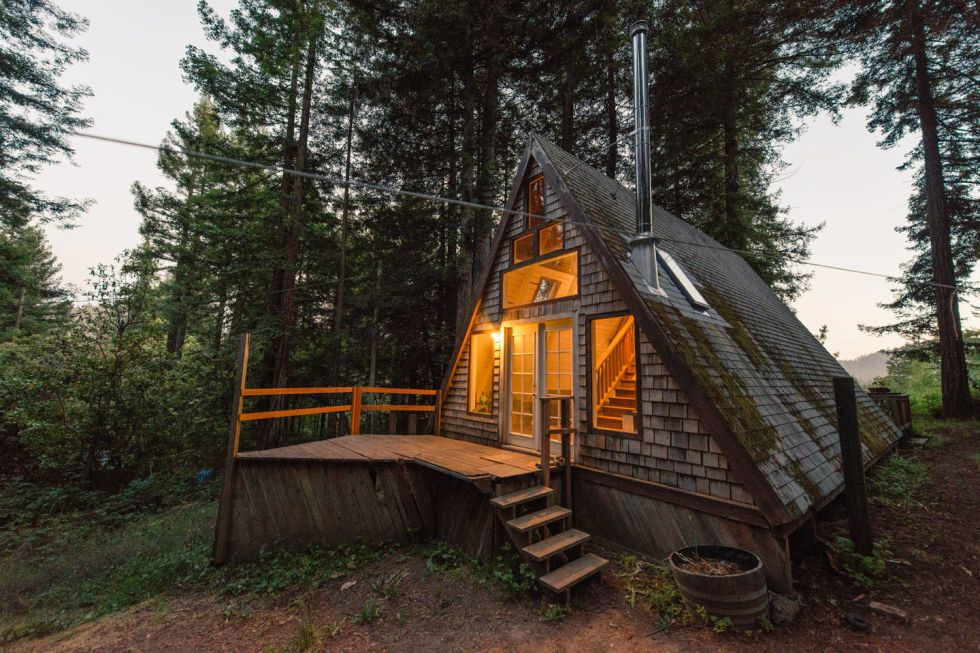 Woodland Retreats Are Usually Pretty Magical, But Tiny Woodland Cabins?  Thatu0027s A Whole New Playing Field. This Rustic, A Frame Cabin Is No  Exception, ...