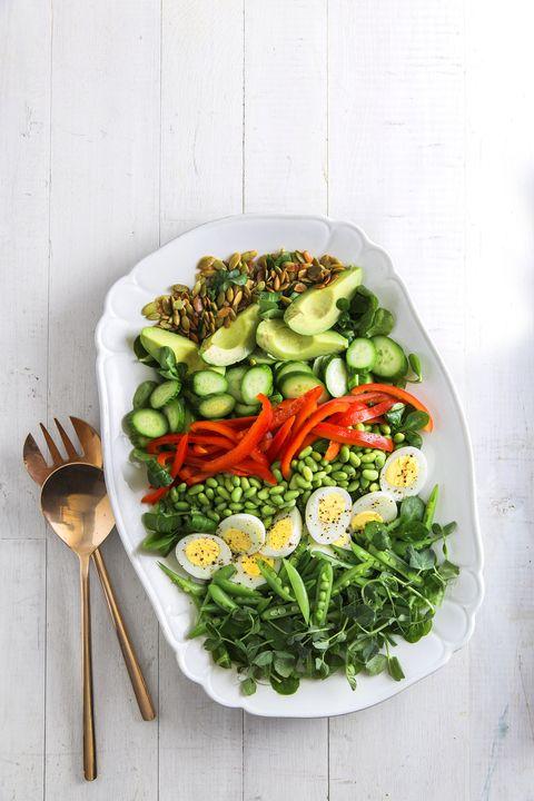 Food, Dish, Cuisine, Vegetable, Salad, Ingredient, Leaf vegetable, Vegetarian food, Cruciferous vegetables, Vegan nutrition,