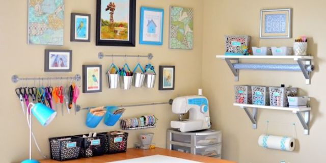 image & Inspiring Craft Room Storage Ideas - Craft Room Organization Ideas