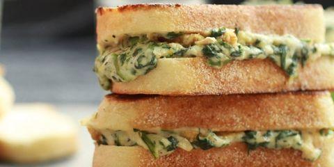 Green, Food, Sandwich, Finger food, Ingredient, Cuisine, Breakfast, Dish, Baked goods, Leaf vegetable,