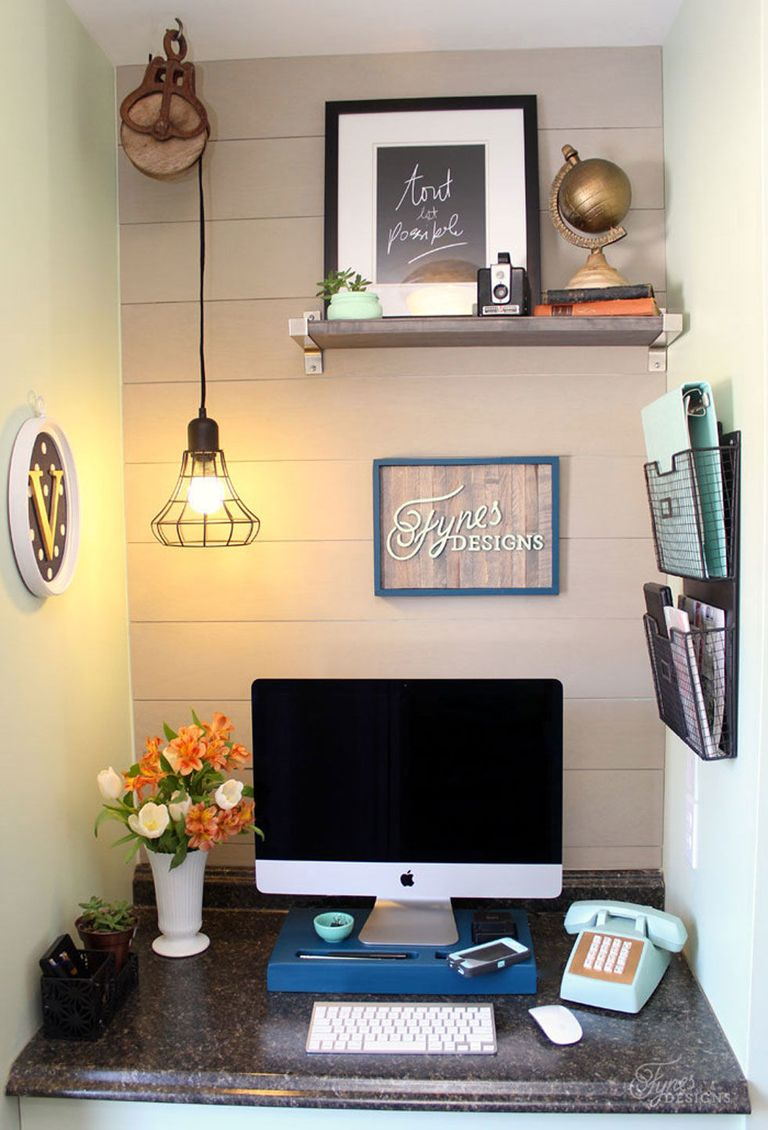 home office makeover. When You\u0027ve Got A Small Space, It All Comes Down To The Details. Blogger Virginia Fynes\u0027s Home Office Didn\u0027t Have Anything Particularly Wrong With It, Makeover
