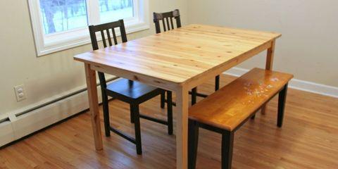 Wood, Hardwood, Flooring, Floor, Wood stain, Table, Room, Wood flooring, Furniture, Laminate flooring,