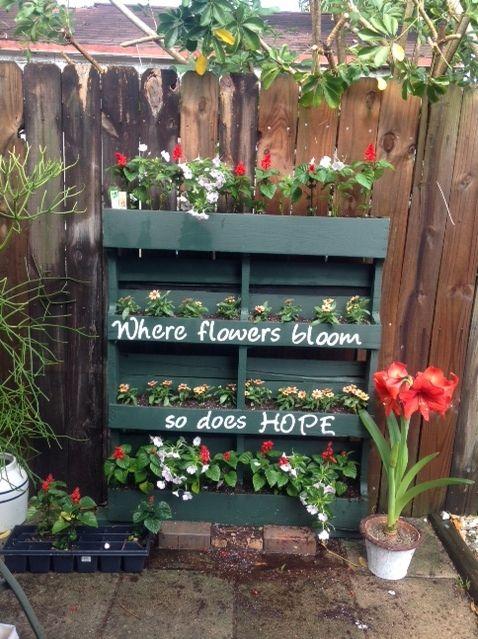 How To Turn A Shipping Pallet Into A Vertical Garden Diy Gardening