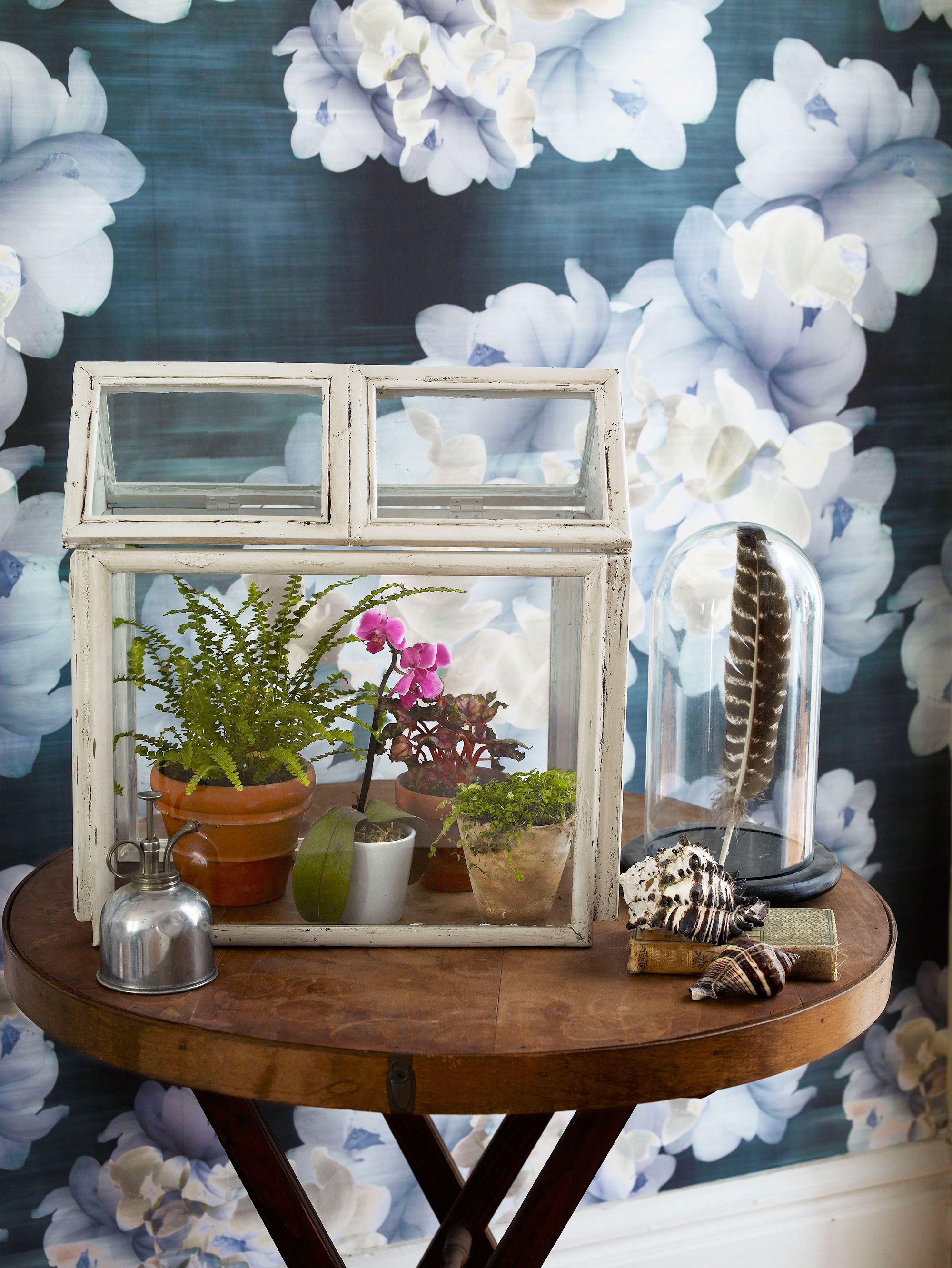 Old window frames easy craft ideas how to make a diy terrarium using old picture frames jeuxipadfo Gallery