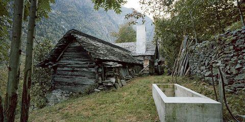 Wood, Rural area, Hut, Shack, House, Village, Roof, Log cabin, Shed, Barn,