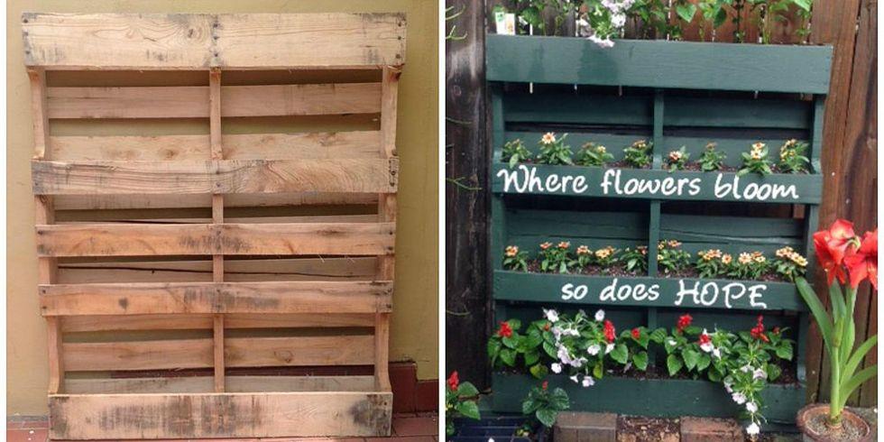 How To Turn A Shipping Pallet Into A Vertical Garden Diy
