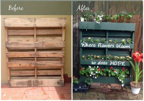 How To Turn A Shipping Pallet Into A Vertical Garden Diy Gardening Projects