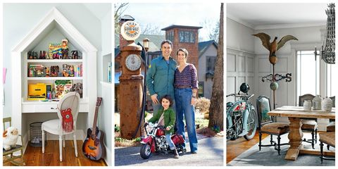 House, Wall clock, Violin family, Shelf, Home, Shelving, String instrument, Picture frame, String instrument, Stool,