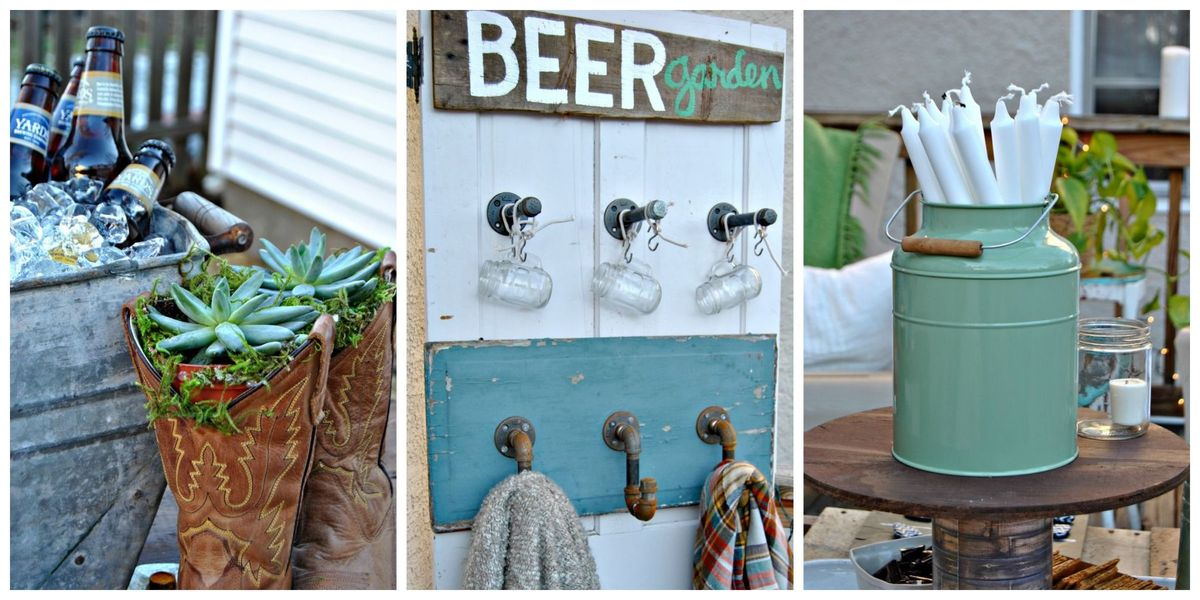 How Diy Backyard Beer Garden Party For Oktoberfest