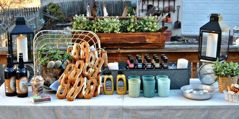 How to diy a backyard beer garden party for oktoberfest outdoor 1 shop your home workwithnaturefo