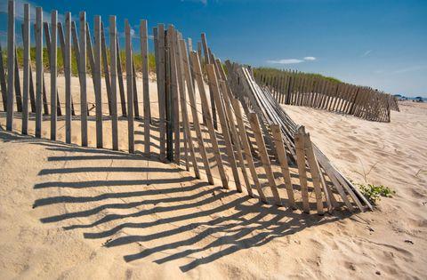 Sand, Landscape, Horizon, Ecoregion, Biome, Shadow, Fence, Singing sand, Beach, Aeolian landform,