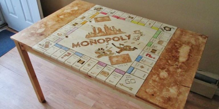 See This Plain Kitchen Table Transform Into A Giant Monopoly Board