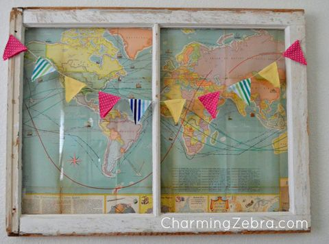 Old Window Frames Easy Craft Ideas - Frames for old maps