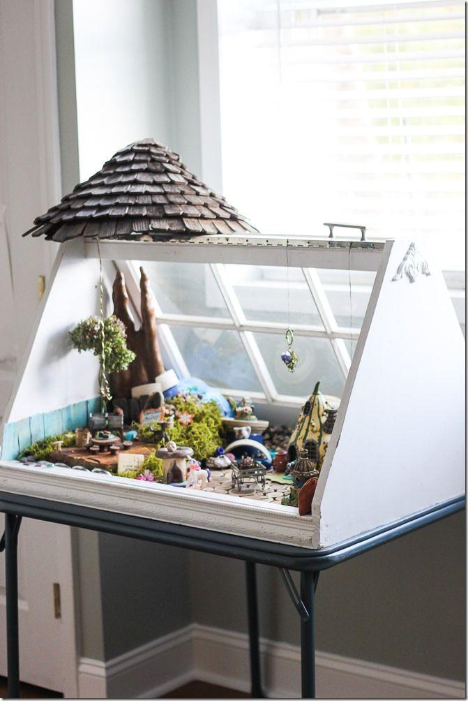 Old Window Frames - Easy Craft Ideas