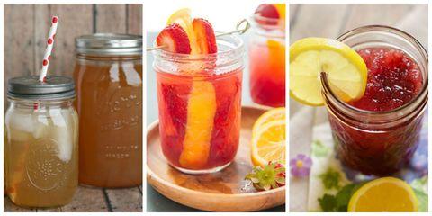 Food, Ingredient, Produce, Tableware, Drink, Mason jar, Fruit preserve, Fruit, Garnish, Juice,