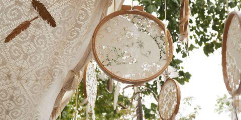 Tablecloth, Serveware, Home accessories, Linens, Dishware, Circle, Doily, Natural material, Outdoor furniture, Invertebrate,