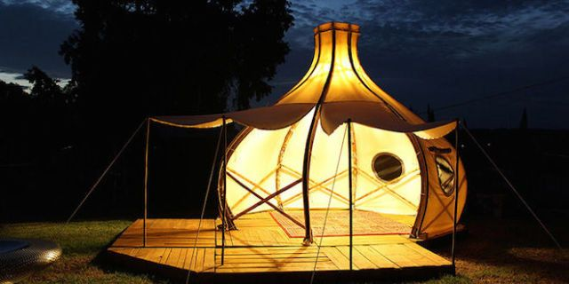 """Would You Ditch Your Old Tent For This Unique Bamboo """"Glamper""""?"""