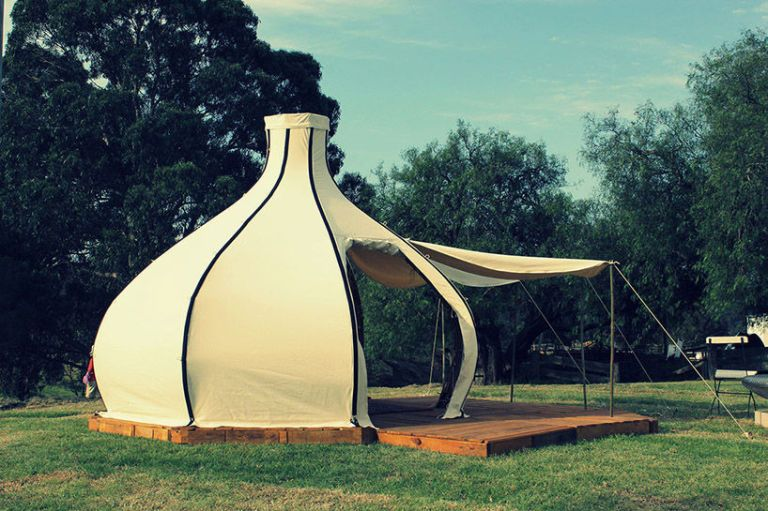 Courtesy of Giant Grass & Would You Ditch Your Old Tent For This Unique Bamboo Glamper ...