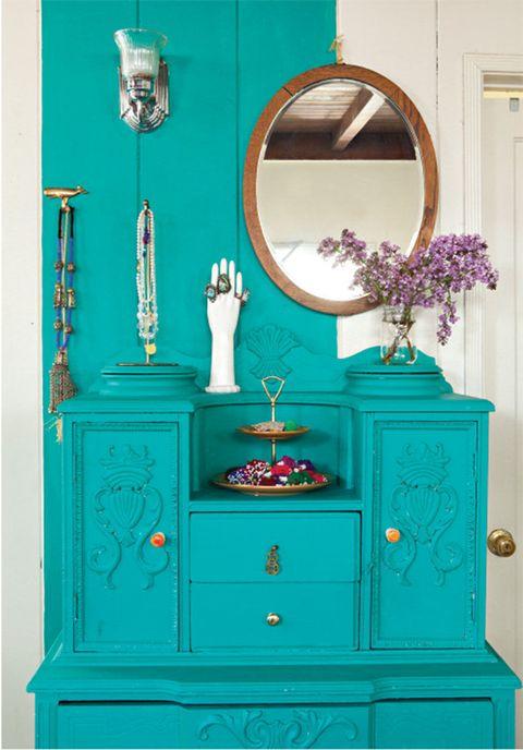 Blue, Green, Wood, Drawer, White, Teal, Room, Wall, Turquoise, Aqua,