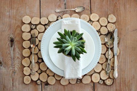 Wood, Leaf, Dishware, Hardwood, Natural material, Lumber, Serveware, Circle, Ceramic, Still life photography,