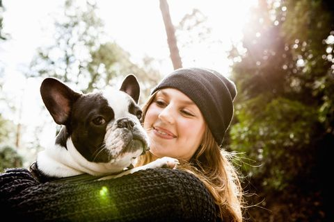 Dog breed, Cap, Dog, Carnivore, Happy, Mammal, People in nature, Organ, Sunlight, Toy dog,