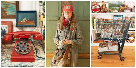 Cap, Jacket, Fashion accessory, Bag, Baseball cap, Street fashion, Beige, Picture frame, Service, Cart,