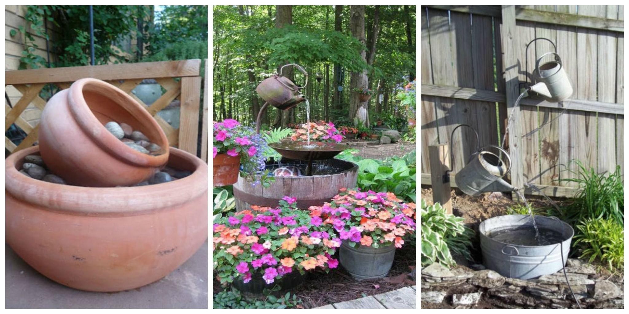 15 DIY Outdoor Fountain Ideas   How To Make A Garden Fountain For Your  Backyard