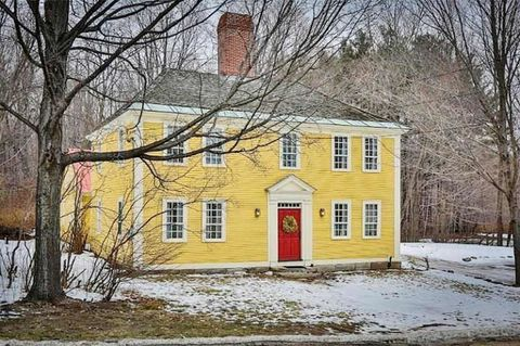 Winter, Window, Yellow, Branch, Property, House, Tree, Home, Roof, Building,