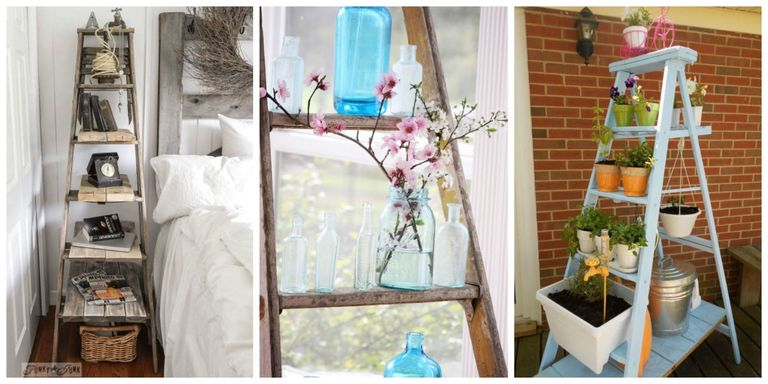 Step Up Your Repurposing With These Genius Ladder Decorating Ideas