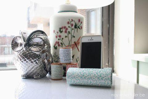 Teal, Grey, Porcelain, Serveware, Home accessories, Owl, Ceramic, Pottery, Vase, Craft,