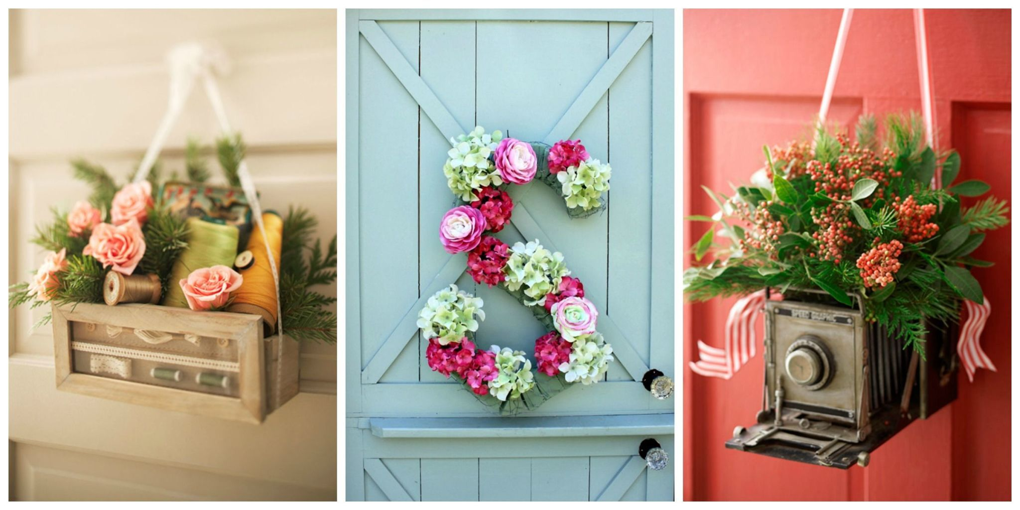 Give your favorite wreath a time out and opt for one of these creative ideas instead. & Front Door Decor - Front Door Decorating Ideas