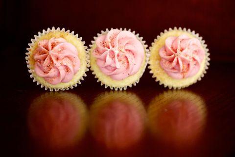 Sweetness, Pink, Food, Peach, Baking cup, Cupcake, Baking, Dessert, Snack, Recipe,