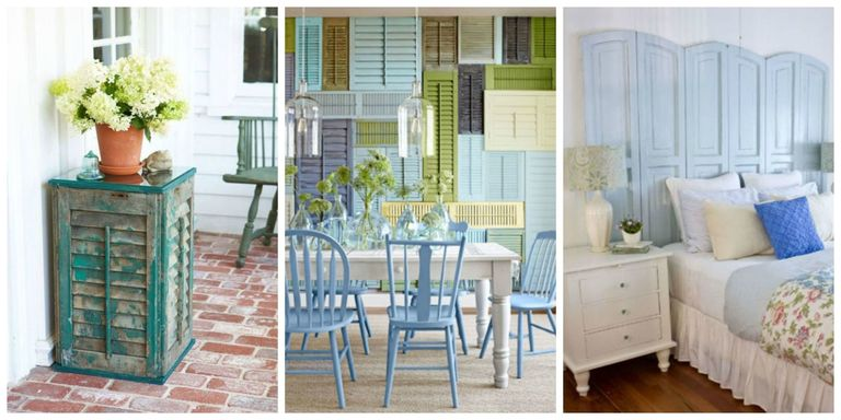 11 Repurposed Shutter Crafts - Recycled Craft Ideas