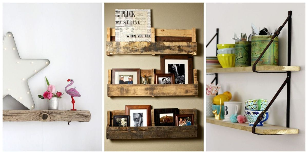 Dress Up Your Walls With These 12 Unique DIY Shelves
