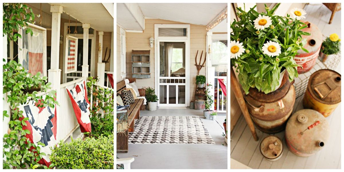 5 Affordable Front Porch Decorating Ideas Country Porch Decor