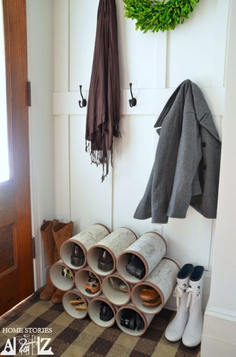 Room, Interior design, Grey, Hardwood, Collection, Wood stain, Interior design, Shelf, Shelving, Clothes hanger,