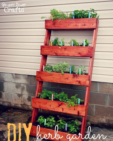 Leaning Bookshelf Vertical Garden