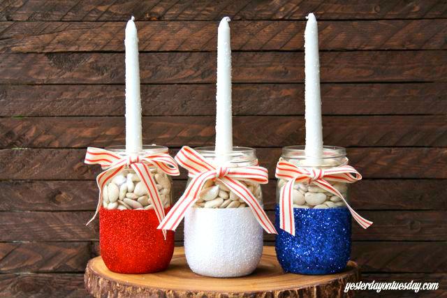19 4th Of July Mason Jars Patriotic Mason Jar Craft Food Ideas For Fourth Of July
