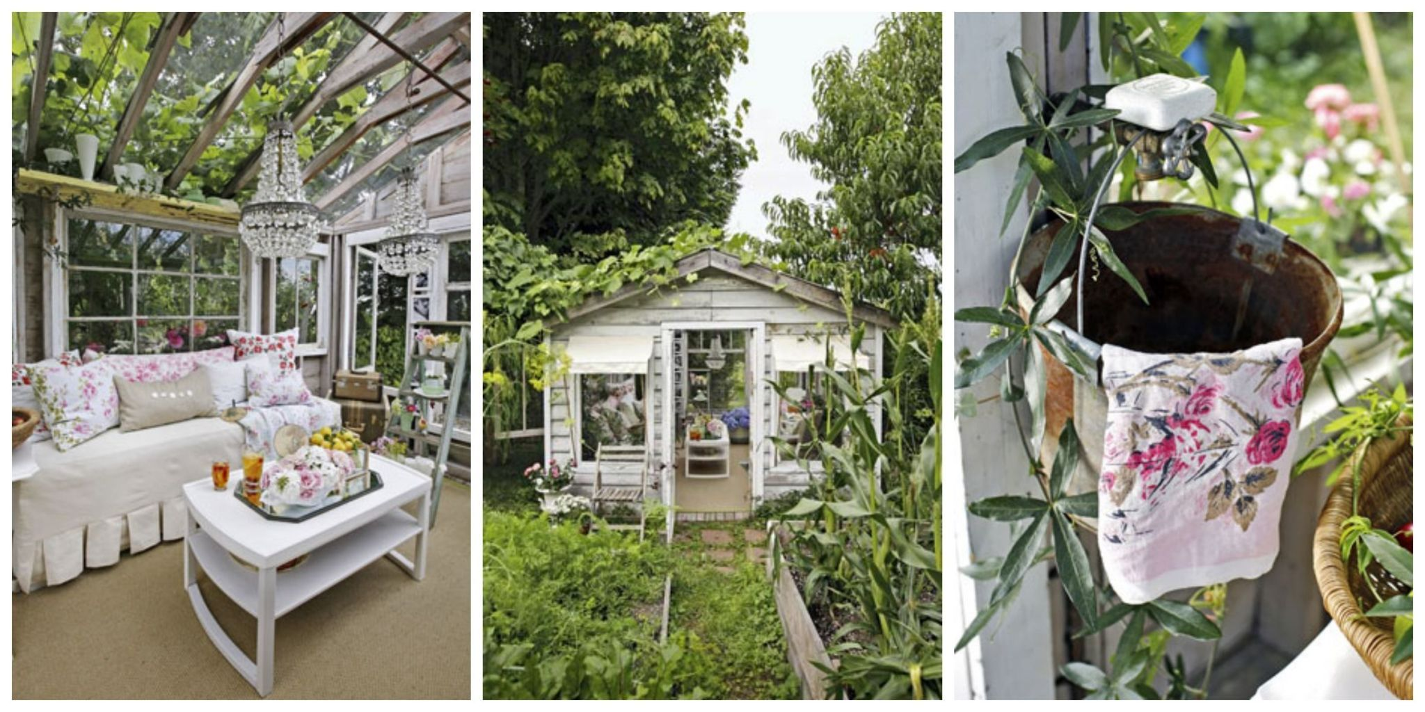 Captivating As A Wedding Gift, One Womanu0027s Husband Took Apart An Old Garden Shed On  Their Property And Rebuilt It As An Adorable Greenhouse Getaway.