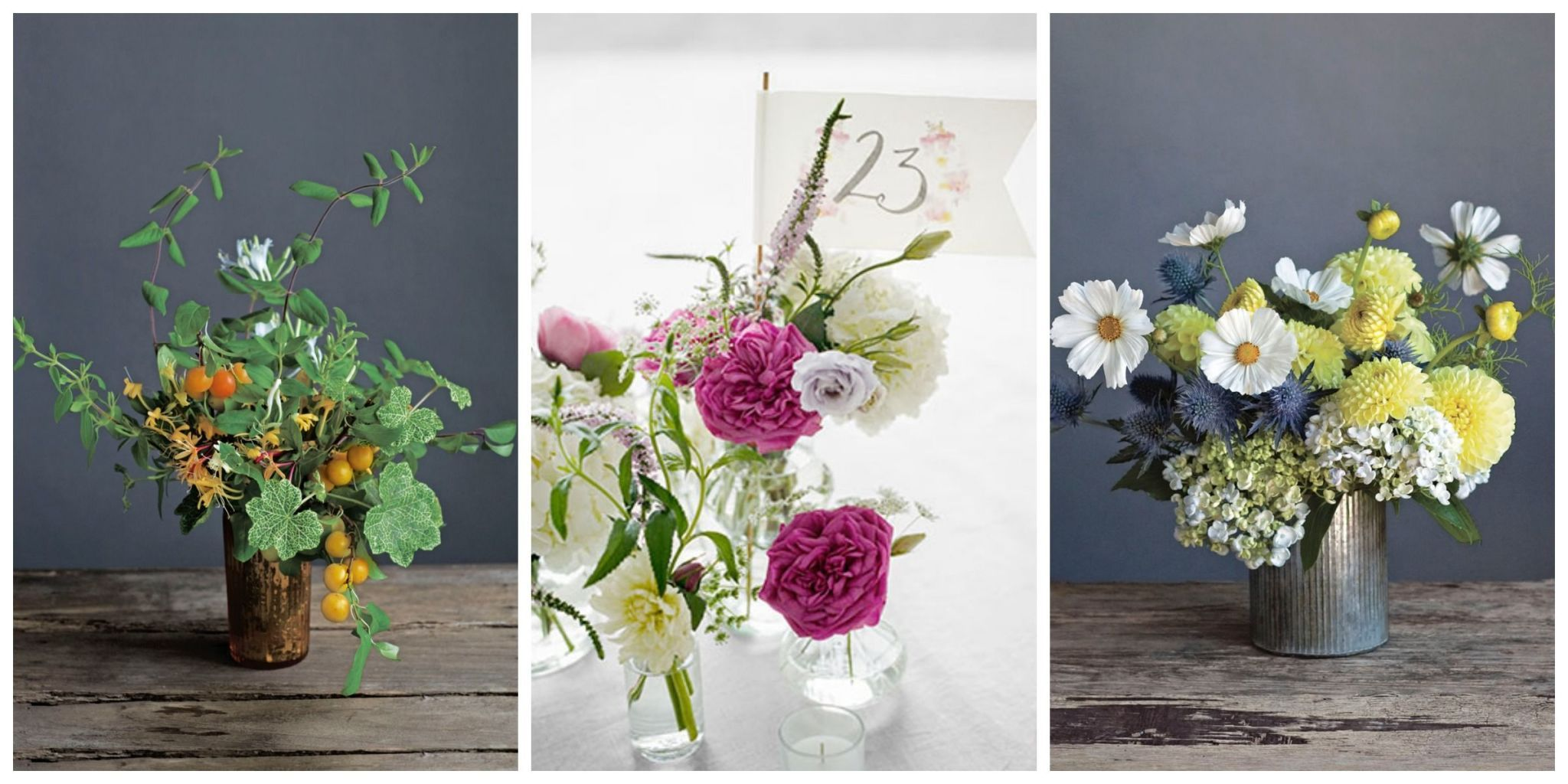 Charming From Galvanized Buckets To Glass Hurricanes, These Ideas For Floral  Arrangements, Candle Groupings, And More Will Put The Finishing Touches On  Your ...
