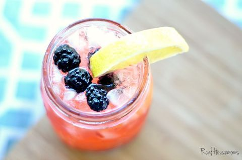 "While the blackberries are super refreshing, the tequila gives this fruity summer drink a serious kick.   Get the recipe at <a target=""_blank"" href=""http://realhousemoms.com/tequila-blackberry-lemonade/"">Real Housemoms</a>."