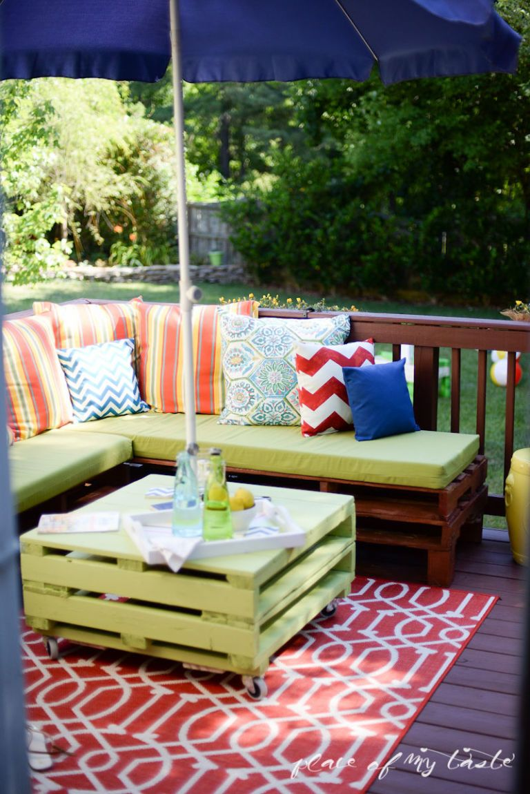 Pallet Furniture Porch Makeover Place Of My Taste