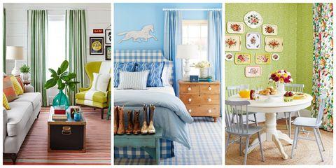 Blue, Room, Green, Interior design, Yellow, Furniture, Textile, Home, Wall, Interior design,