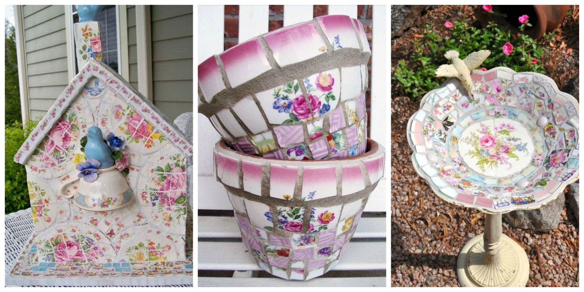 12 Creative Crafts That Take Broken China From Trash To
