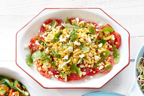 bbq side dishes corn feta salad