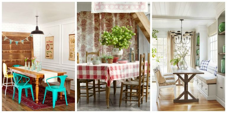 85 best dining room decorating ideas country dining room for Small dining area decor