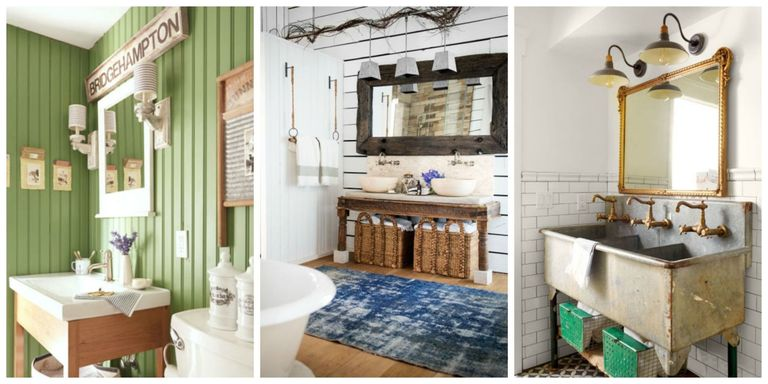 from vintage fixtures to bold wallpaper patterns these beautiful bathroom design ideas will make your homes smallest room the most peaceful spot in the - Bathroom Design Ideas Pictures