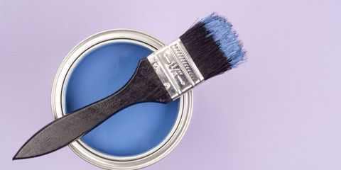 Brush, Purple, Violet, Azure, Lavender, Electric blue, Paint, Cosmetics, Razor, Tool,