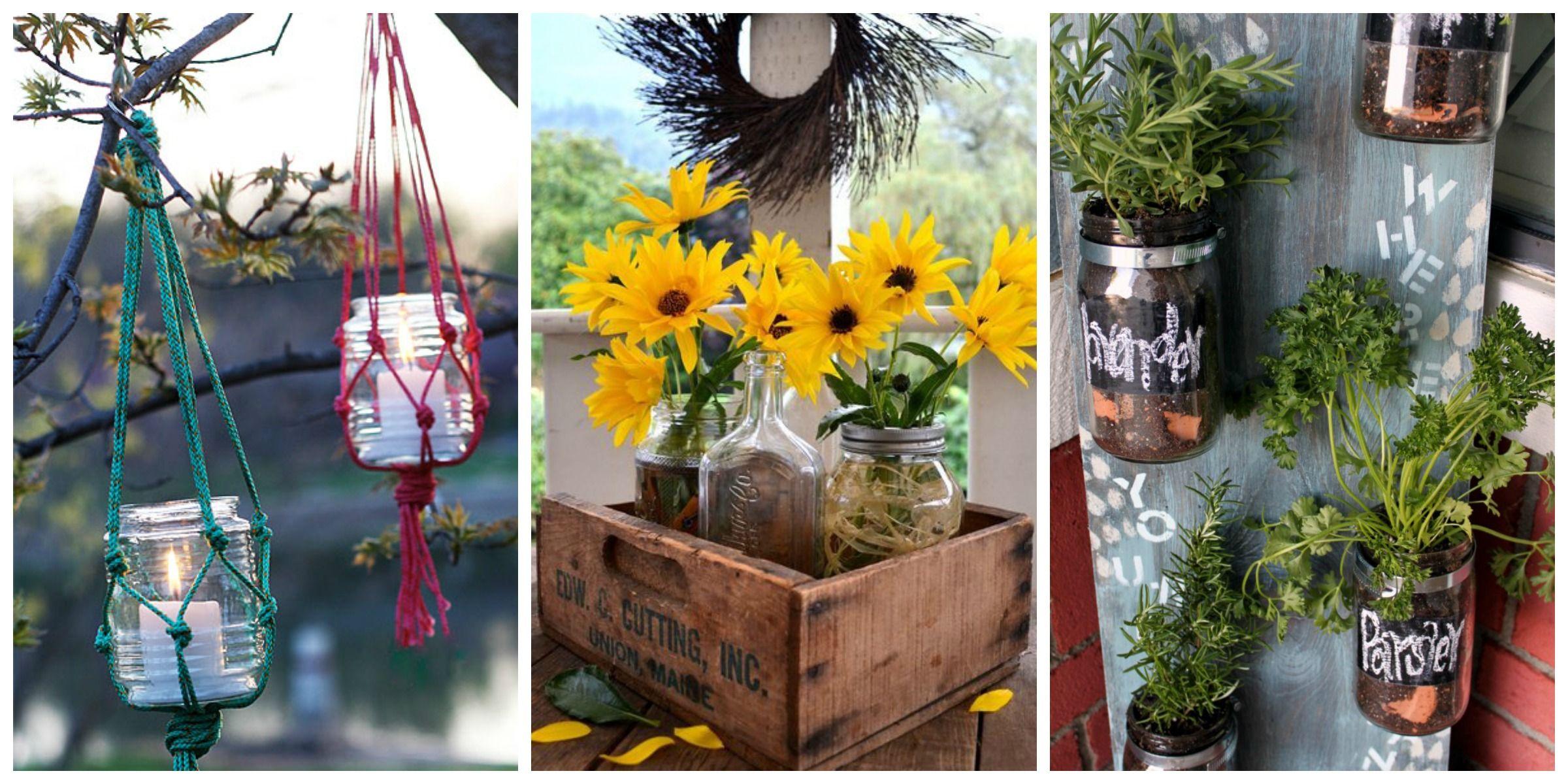 Backyard And Garden Mason Jars Mason Jar Crafts